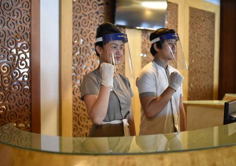 Staff Wearing PPE - The ONE Legian Hotel