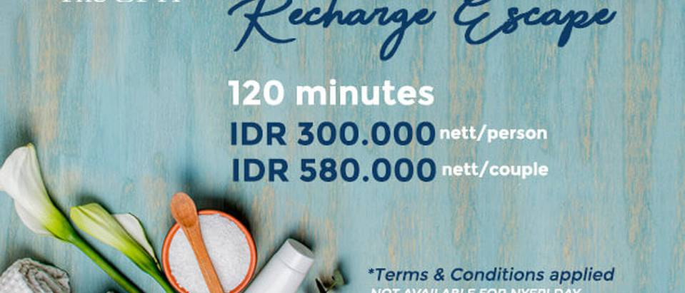 RECHARGE ESCAPE - The ONE Legian Hotel